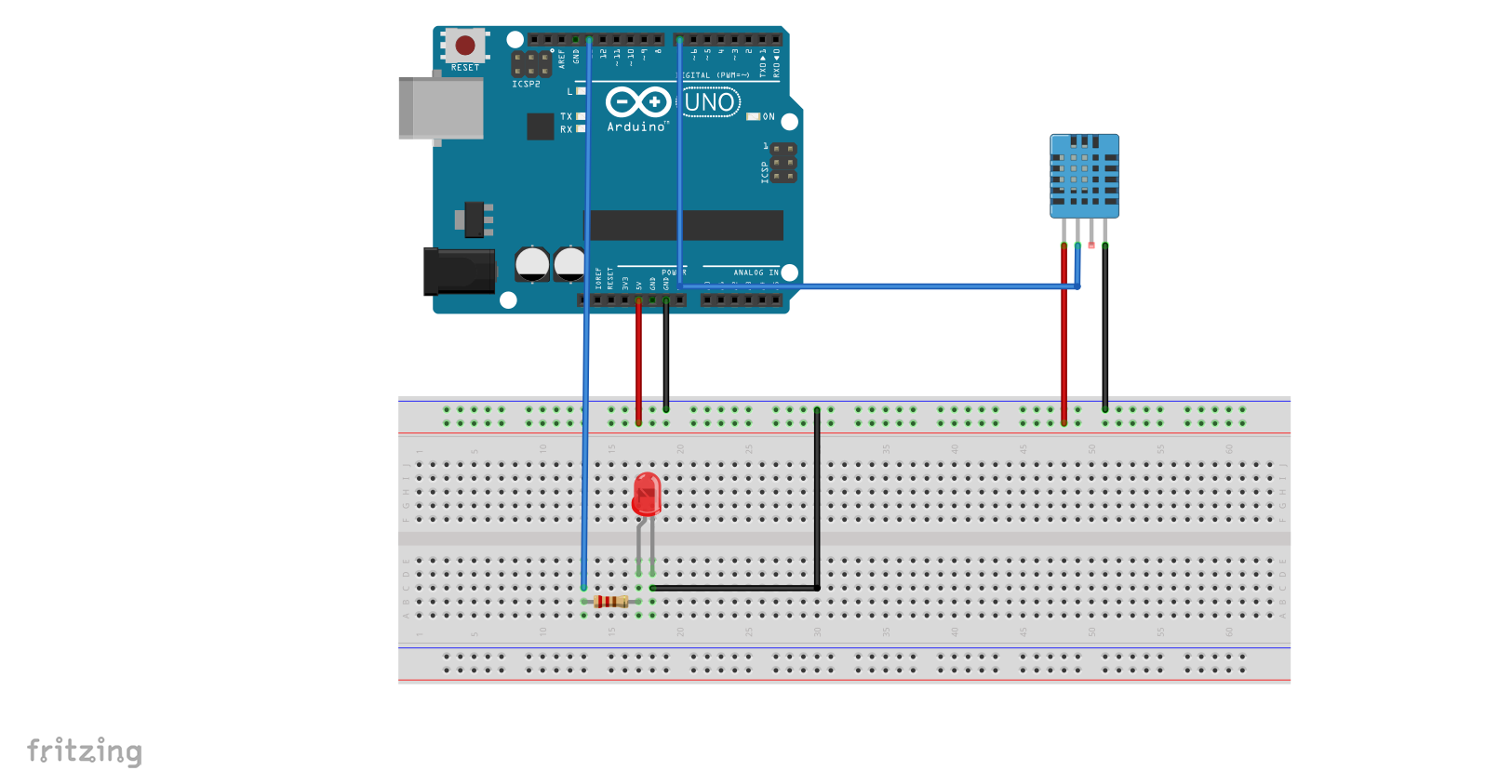Arduino Tutorial 4: DHT 11 Temperature and Humidity Sensor Tutorial
