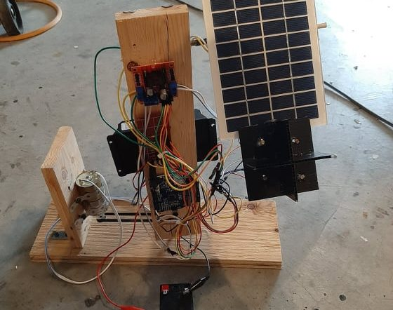 Dual Axis Solar Tracker Version 2