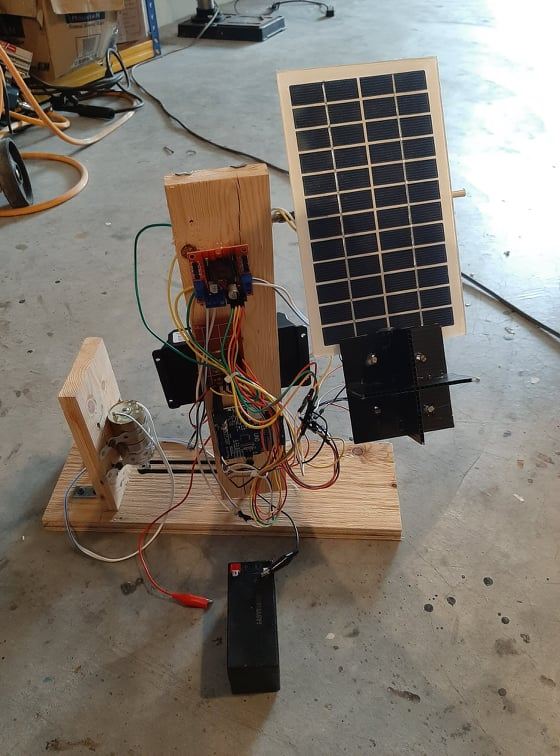 Dual Axis Solar Tracker Version 2